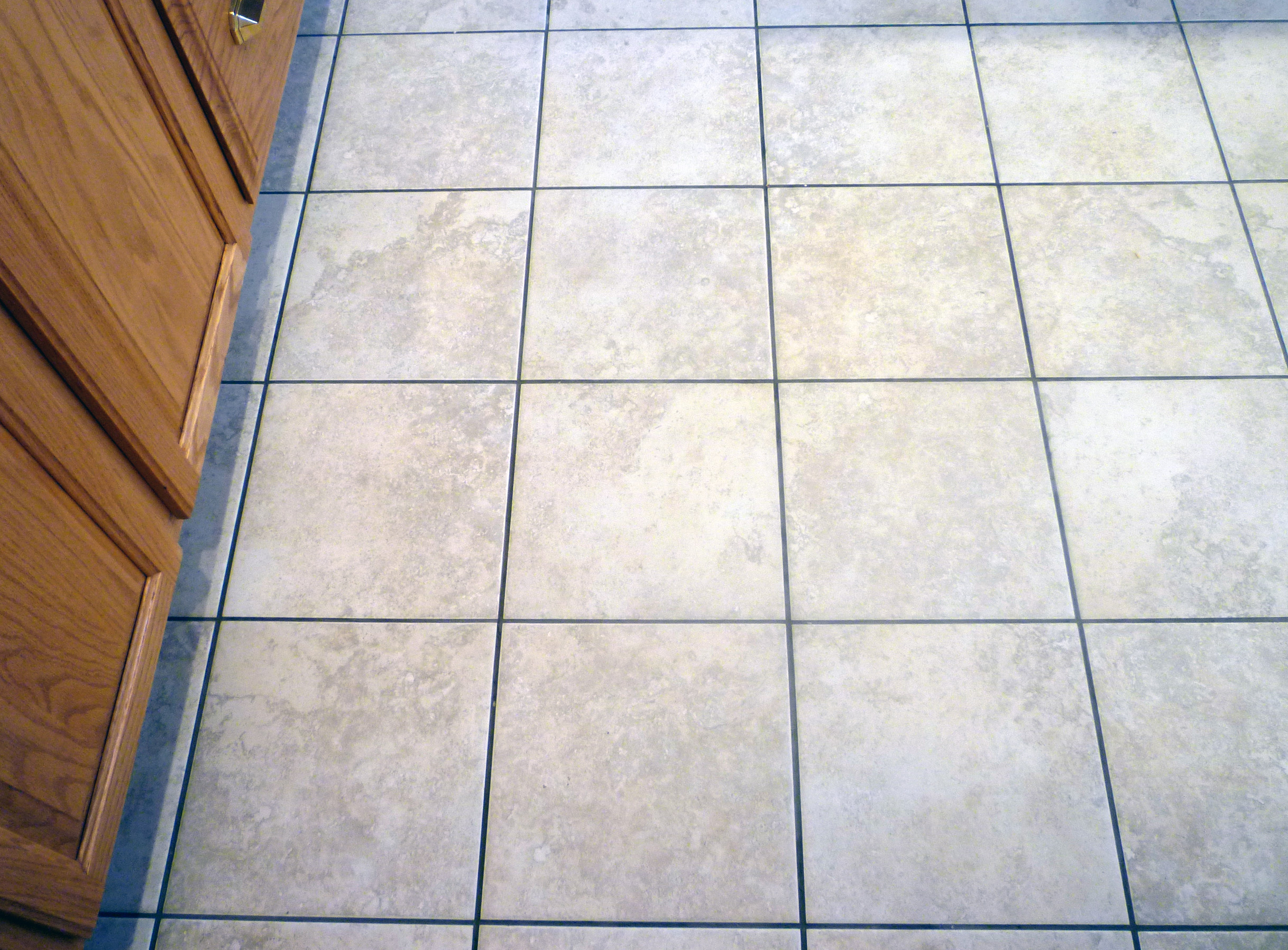 Grouting tiles floor